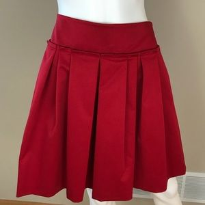 Ann Taylor Red Party Skirt Lined 6 NWT Pockets